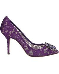 Dolce & Gabbana Shoes With Heel - Paars
