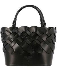 Prada Leder Tas - Zwart