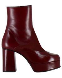 See By Chloé Boots Julia '70 Platform Sb35021a Nisida - Rood