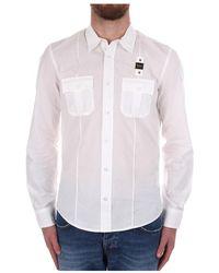 Blauer 21sblus01233 005994 Casual Shirt - Wit