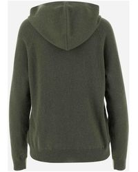 P.A.R.O.S.H. Sweater with non-removable hood Long sleeves Dropped shoulders Verde