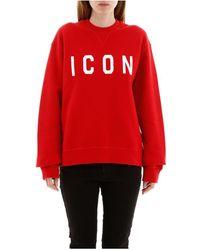 DSquared² Icon Sweatshirt - Rood