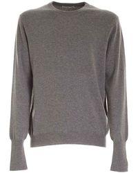 Ballantyne R Neck Pullover - Gris