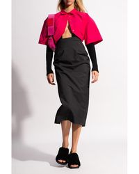 Jacquemus La Valerie wool skirt Negro