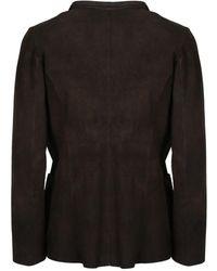 Salvatore Santoro Leather Jacket Marrón