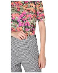 PS by Paul Smith Marigolds Print T-Shirt Rosa