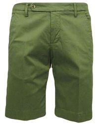 Entre Amis Chino Bermuda Shorts - Groen