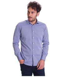 BRANCACCIO Italian Collar Gio 'fantasy Shirt - Blauw