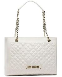 Love Moschino Quilted Nappa Bag - Wit
