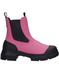 Ganni Boots - Roze