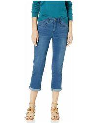 NYDJ Skinny Cropped Cuffed Hems Stretch Jeans - Blauw