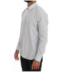 Roberto Cavalli Stretch Slim Fit Shirt Azul