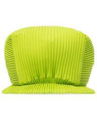 Issey Miyake Pleated baseball cap - Vert
