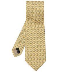 Ferragamo Cravate à motifs - Jaune