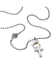 DIESEL Time Frames Dx1149 Necklace Men Acciaio - Grijs