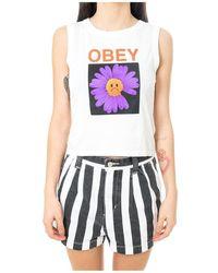 Obey Tank TOP SAD Daisy 267231411.cwht - Weiß
