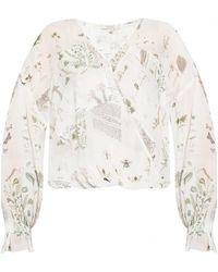 AllSaints Penny asymmetric blouse - Blanc