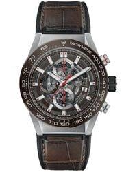 Tag Heuer Carrera Calibre Heuer 01 Watch - Bruin