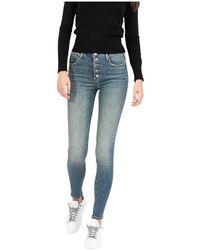 Met Medium Sanded Denim Eva Jeans - Blauw