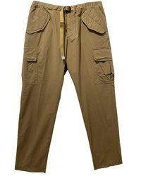 White Sand Pantalon chino cinturon bolsillos - Marrón