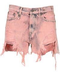 R13 Shorts W0190532bd - Roze