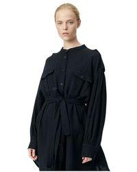 Munthe Robe Split Dress - Nero