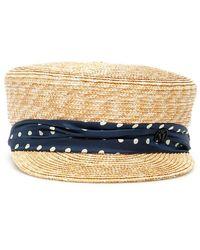 Maison Michel Abby Straw Hat - Naturel