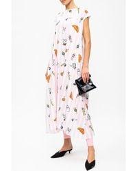 Vetements - Printed sleeveless dress Rosa - Lyst