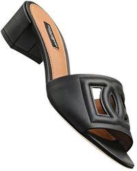 Dolce & Gabbana Mules aus Kalbsleder - Schwarz