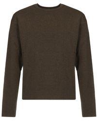 Lemaire Crewneck Rib Sweater - Bruin