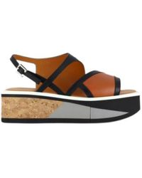 Clergerie Umy Platform Sandals - Bruin