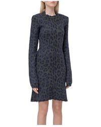 Unravel Project Long Sleeve Tight-fitting Dress - Groen
