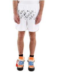 Off-White c/o Virgil Abloh Airport Tape Shorts - Wit