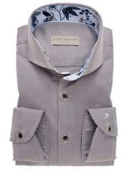 John Miller Slim fit shirt - Marron