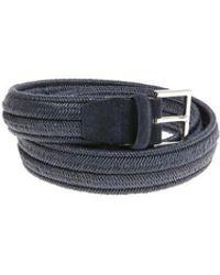 Orciani - Cintura Pelle E Tessuto - Lyst