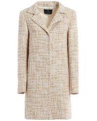 Paolo Fiorillo Capri Lurex-knit Coat - Roze