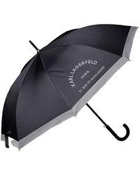 Karl Lagerfeld Rue Guillaume Umbrella - Zwart