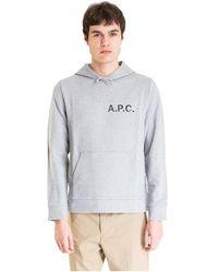 A.P.C. Hoodie Logo - Grijs