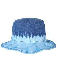 Alberta Ferretti Bucket HAT With TIE DYE Print - Bleu