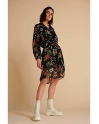 POM Amsterdam Dress Flower Love Sp6606 - Noir
