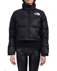 The North Face Nuptse Short Down Jacket - Zwart