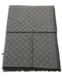 Gucci Tweedehands Uitlaat Sjaal 282390 - Grijs