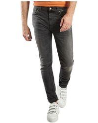 Nudie Jeans Lean Dean Mono Jeans - Grijs