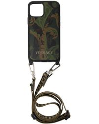Versace Iphone 12 Case With Strap - Groen
