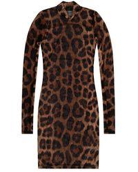 Philipp Plein Sheer dress - Marron