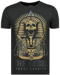 Local Fanatic Rebel Pharaoh - Exclusieve T Shirt Mannen - Zwart