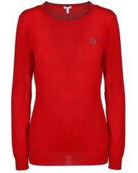 Loewe Anagram Crewneck Sweater - Rood