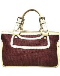 Céline Vintage Boogie Raffia-Handtasche - Rot