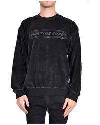 Martine Rose Crew Neck Sweatshirt IN Velvet - Schwarz