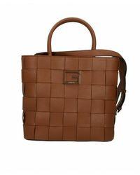 Guess Spalla Liberty City Shopper Bag B22gu09 Eg813522 - Bruin